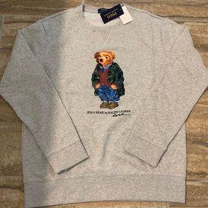 Deadstock polo bear causal bear wool sweater